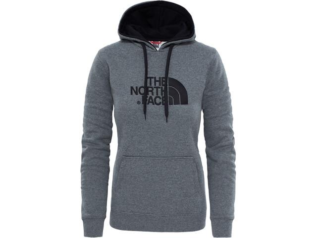 The North Face Drew Peak Pullover Hoodie Dame TNF Medium Grey Heather/Vintage White